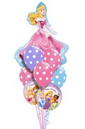 Princess Birthday V Sleeping Beauty Balloon Bouquet (9 Balloons) delivered in Brampton