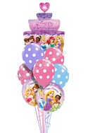 Princess Birthday III Tiered Cake Balloon Bouquet (9 Balloons) delivered in Raleigh