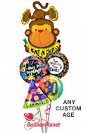 Custom Name & Age Hang In There Balloon Bouquet (5 Balloons) delivered in San Diego
