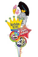 Custom Name Buzard King Balloon Bouquet (5 Balloons) delivered in Anaheim
