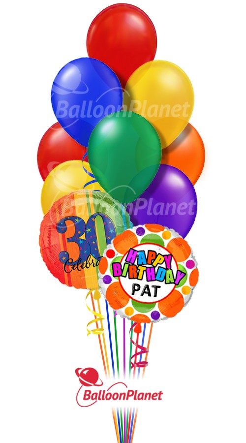 Balloon Bouquet Classic Birthday Custom Name Age 12 Balloons