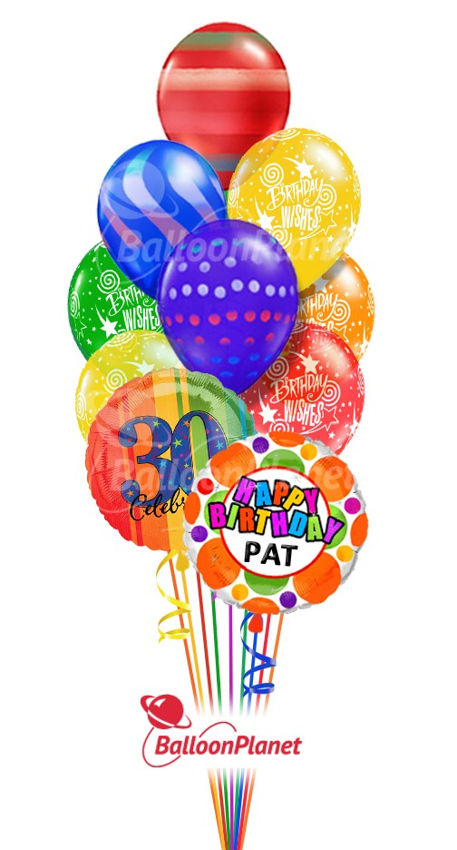 Balloon Bouquet Birthday Graphics