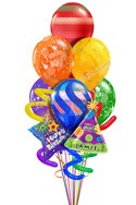 Custom Name Jumbo Twisty Balloon Bouquet (9 Balloons) delivered in Boston