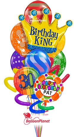 Balloon Bouquet Jumbo Birthday King