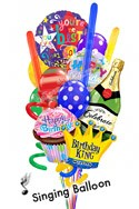 Custom Name Singing King Madness Balloon Bouquet (15 Balloons) delivered in Fort Lauderdale