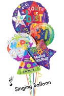 Custom Name & Age Simply The Best Balloon Bouquet (5 Balloons) delivered in Henderson