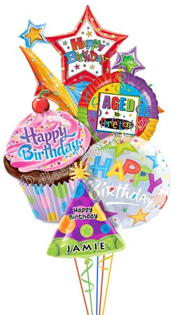 Happy Birthday Balloons With Names Balloon Bouquets Delivery By Balloonplanet Com
