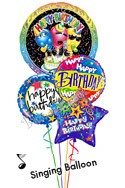 Singing Trio Birthday Balloon Bouquet (4 Balloons)  delivered in New York