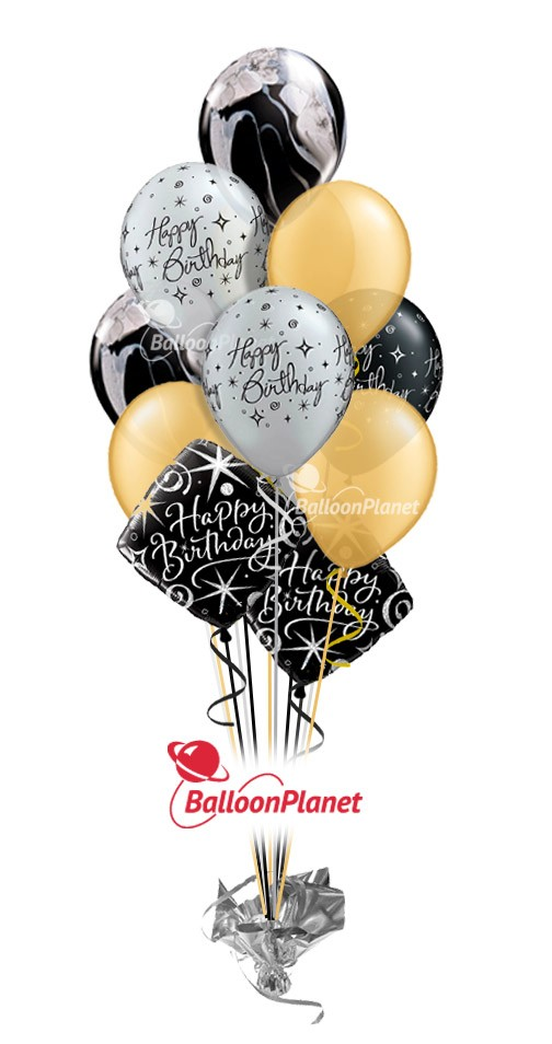 Elegant Celebration Birthday Balloon Bouquet 12 Balloons Item BBA 5060 HF 5595 USD More Details