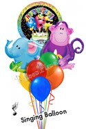 Jungle Pals Singing Elephant & Monkey Balloon Bouquet (8 Balloons) delivered in Longmont