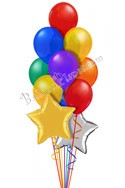 Flying Colors Anniversary Stars Balloon Bouquet (12 Balloons) delivery in Sydney