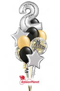 Single Number Anniversary Balloon Bouquet (13 Balloons) delivery in M�nchen