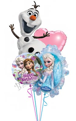 Frozen Birthday I Balloon Bouquet 4 Balloons Balloon