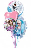 Frozen Birthday III Balloon Bouquet (4 Balloons) delivered in Brampton