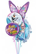 Frozen Feel Better II Balloon Bouquet (4 Balloons) delivery in Dallas