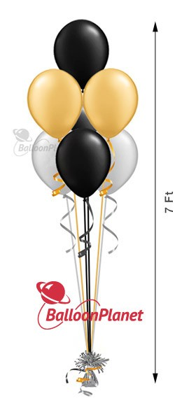 11in Balloon Centerpiece<br>Select Your Colors<br>Pyramid 7 <br>(7 Latex)