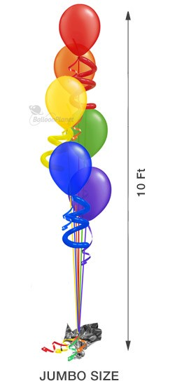 Balloon Tree Cascading Twisty 6 (6 Large Balloons)
