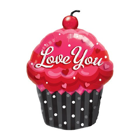 Love You Cupcake Balloon