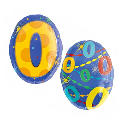 Number 0 Jr Shape Balloon
