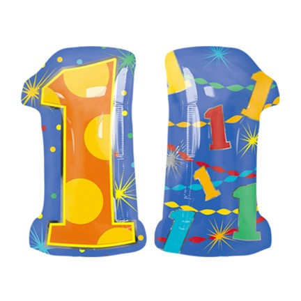 Number 1 Jr Shape Balloon