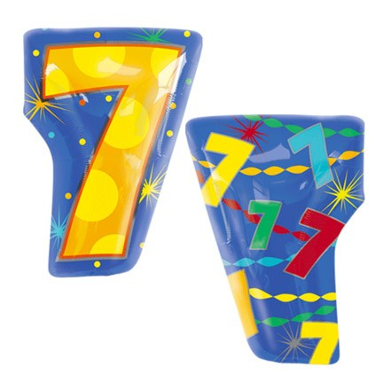Number 7 Jr Shape Balloon
