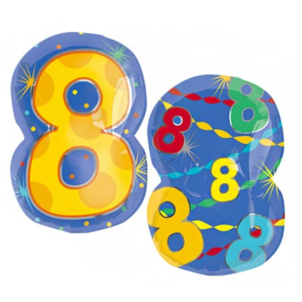 Number 8 Jr Shape Balloon