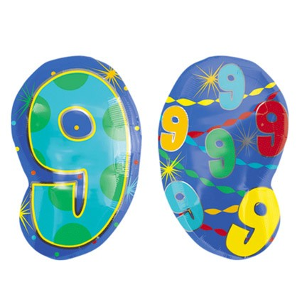 Number 9 Jr Shape Balloon