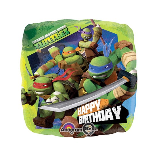Ninja Turtles Happy Birthday Balloon