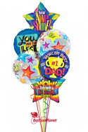Father's Day Balloon Bouquet (6 Balloons) delivery in Philadelphia