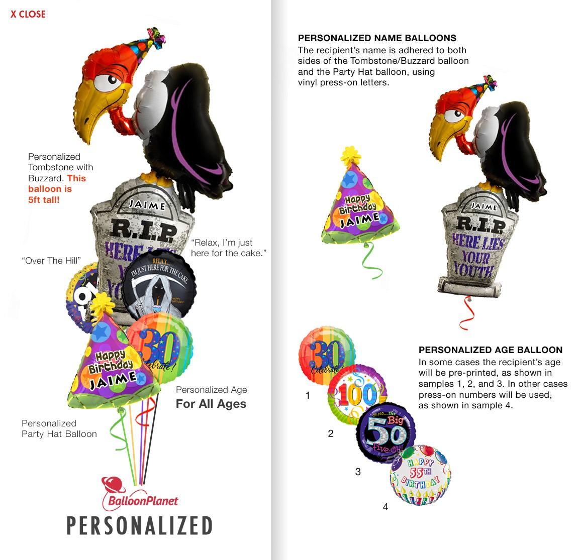 Balloon bouquet delivery balloon decorating 866 340 - Custom Name Age Buzzard Birthday Balloon Bouquet 5 Balloons