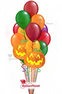 Pumpkins & Fall Colors Balloon Bouquet (14 Balloons) delivery in Indianapolis