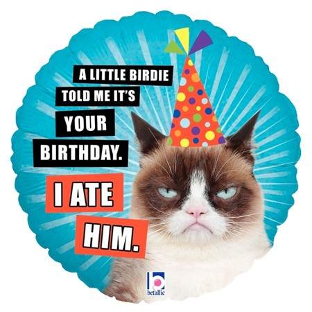 Grumpy Cat Ate Him Balloon