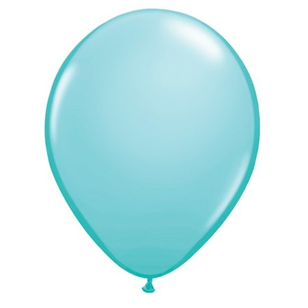 11in Caribbean Blue<br>Latex Balloon