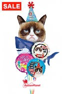 Grumpy Cat, Party Shark Birthday Bouquet Balloon Bouquet
