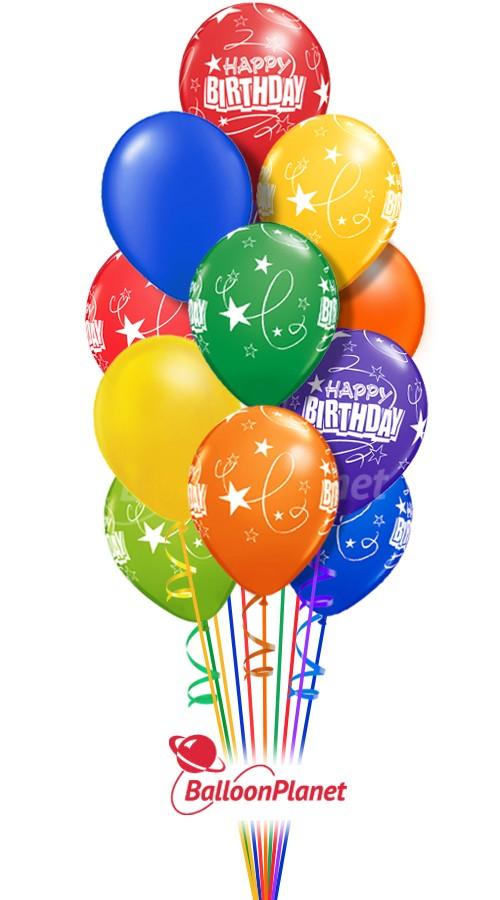 90 Balloon Salute Birthday Bouquets Balloons