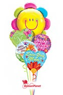Mother's Day Smiling Blossom Balloon Bouquet