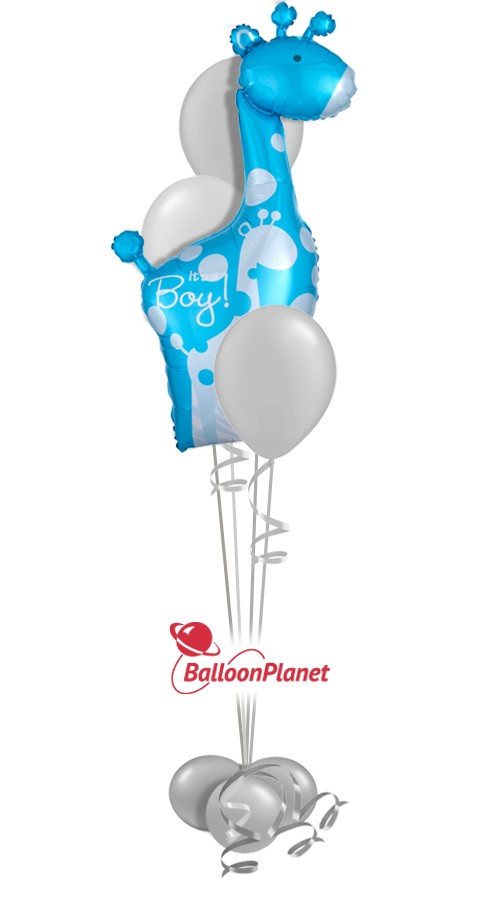 Baby Shower Balloon Centerpiece Select Your Colors (4 Balloons)
