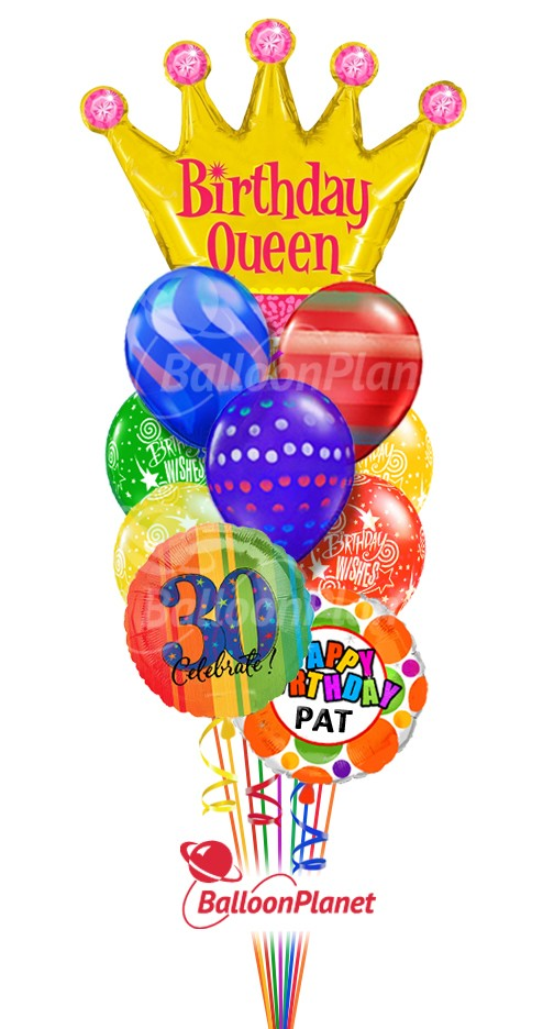 Balloon Bouquet Birthday Queen Graphics