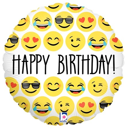 Emoji Birthday Balloon