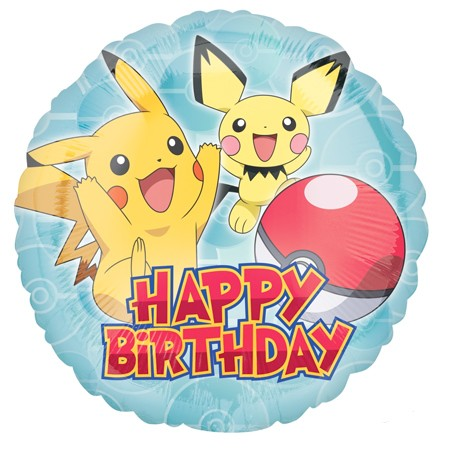 Pokemon Birthday Balloon