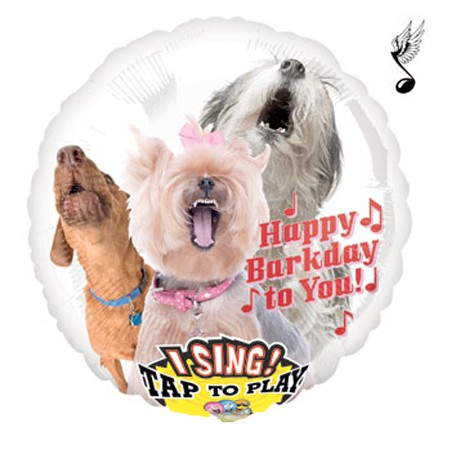 Birthday Barking Dogs Singing Balloon
