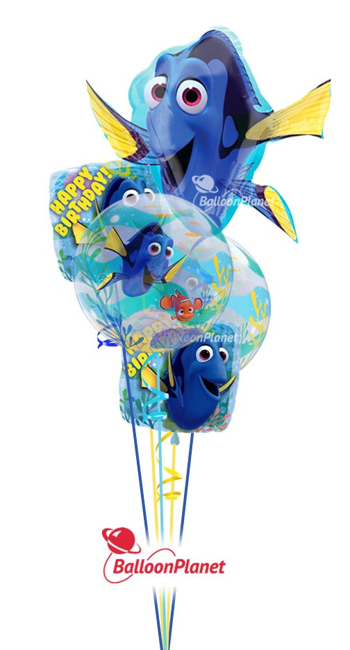 Finding Dory Birthday Balloon Bouquet 5 Balloons Item BBB 8009 5995 USD More Details