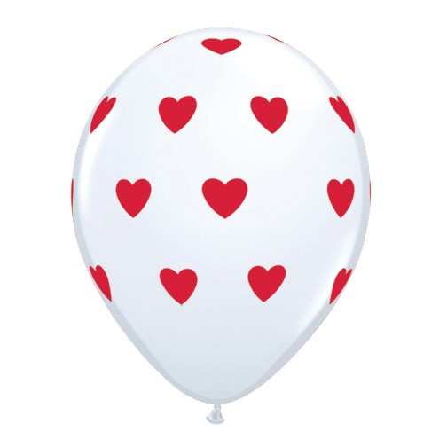 11in Hearts Around<br>White<br>ORDERING LIMIT(Click for Details)