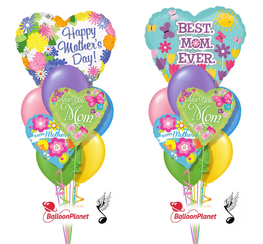 Balloon bouquet delivery balloon decorating 866 340 - Mother S Day Singing Balloon Bouquet 9 Balloons