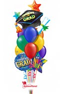 Grad Cap Rainbow Balloon Bouquet Balloon Bouquet