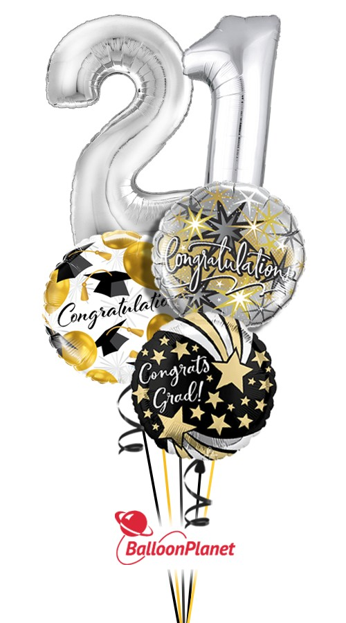 Class of 2019Balloon BouquetNot Personalized (5 Balloons)
