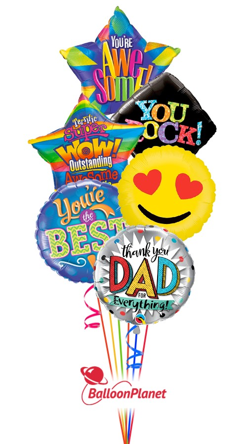 Awesome DadFather's DayBalloon Bouquet (12 Balloons)