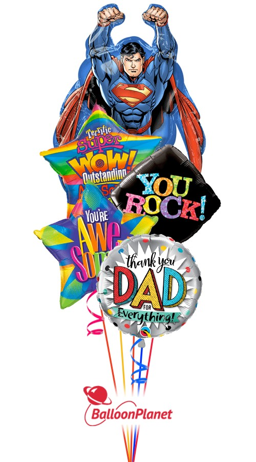Super DadFather's DayBalloon Bouquet (5 Balloons)