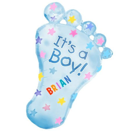 Baby Boy Foot<br>Personalized Balloon