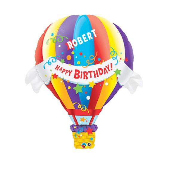 Birthday Custom Name Personalized Balloon Hot Air